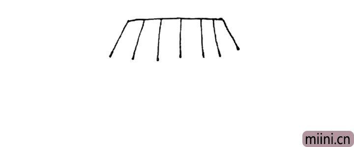 第二步:再画上一些斜线在中间。