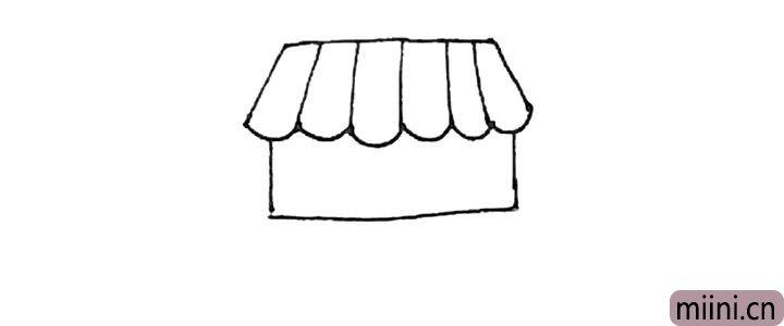 第四步:下面,再画上一个方形。