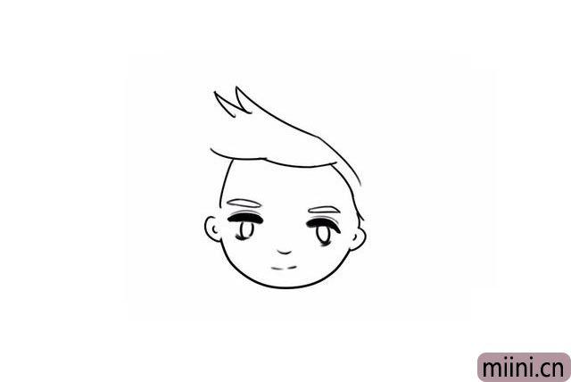7.继续画头发。
