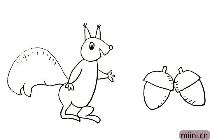 13.用同样的方法画出另一颗松果。