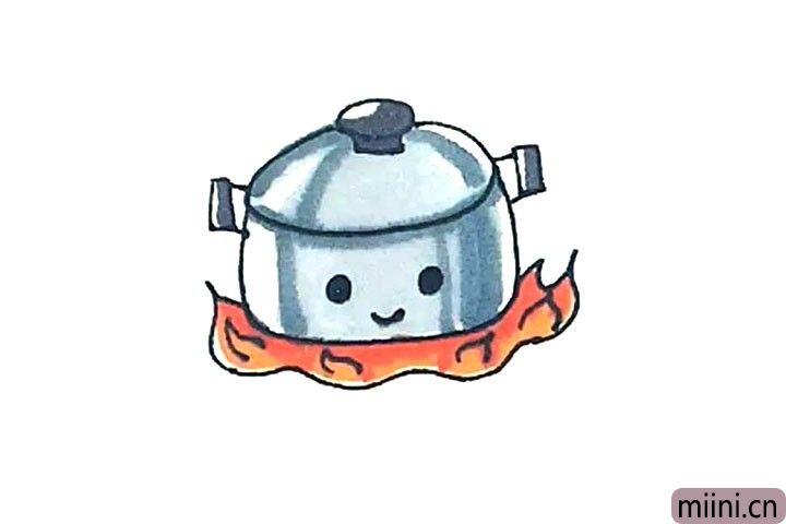 煮食物的锅简笔画步骤教程