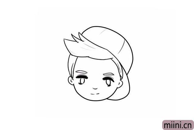 11.头发和帽子的细节(随便轻轻的画几笔就可以了)。