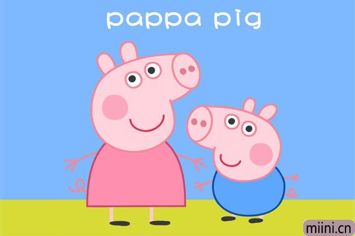 小猪佩奇和乔治简笔画步骤教程