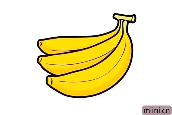 黄色的香蕉简笔画步骤教程