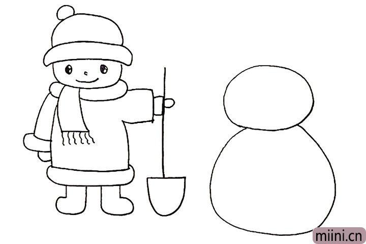 13.以及雪人大大的身体。