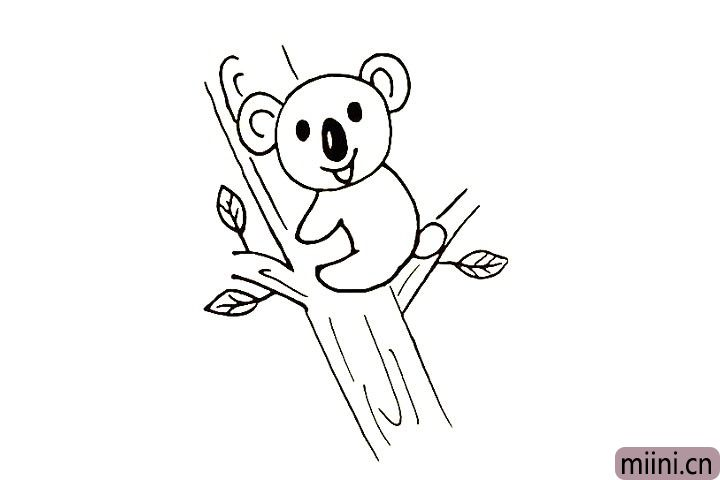 11.用线条装饰一下树干的纹理。