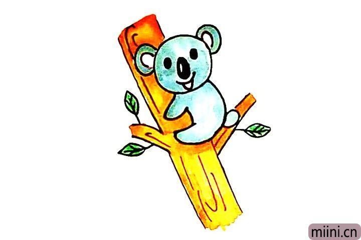 树袋熊考拉简笔画步骤教程