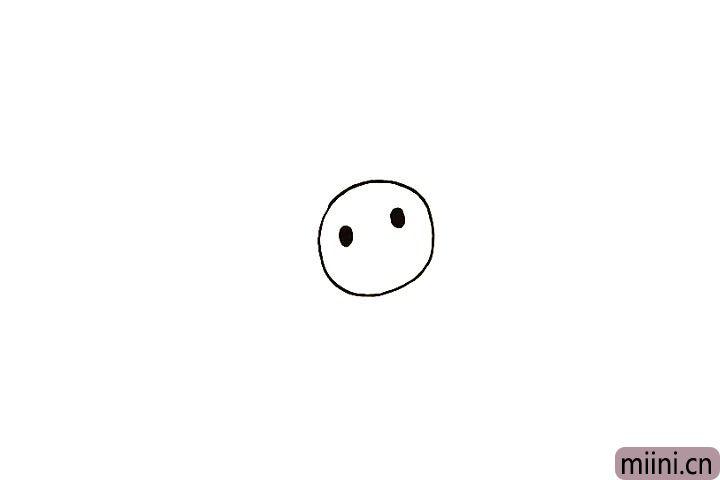 2.再画出考拉的两只眼睛。