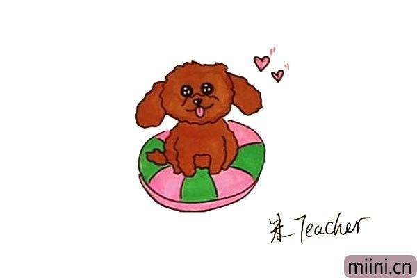 大家都喜欢的泰迪犬简笔画步骤教程