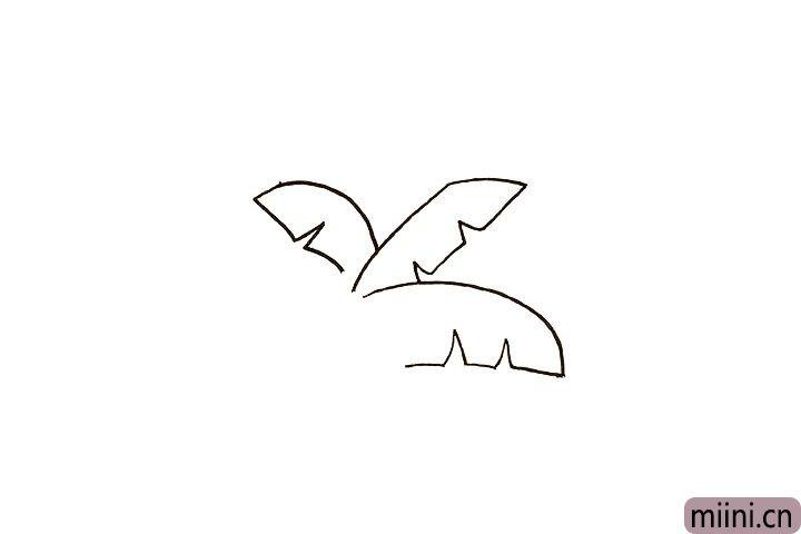 2.画出三片叶子。