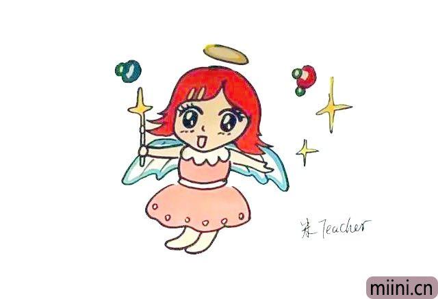 可爱温柔的小天使简笔画步骤教程