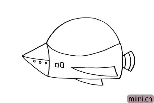 3.飞船的细节可以画的丰富一些,让它与众不同。