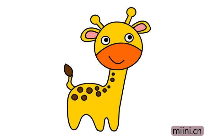 可爱的长颈鹿简笔画步骤教程