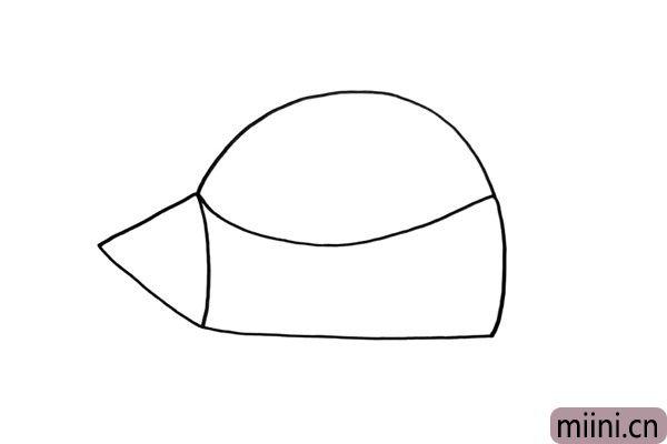 2.我们开始画出飞船的船身,你可以发挥想象力设计出不同的飞船。