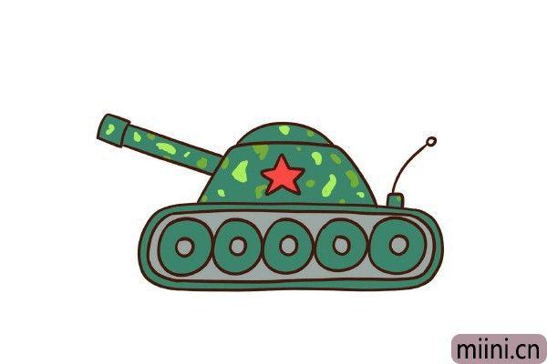 陆地战场上的霸主坦克简笔画步骤教程