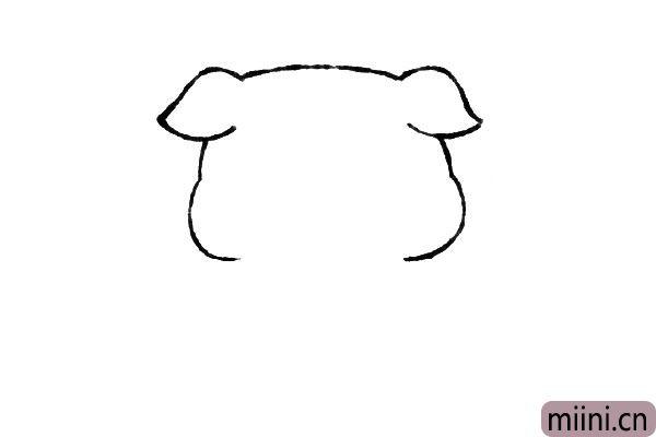 2.接着画脸部的轮廓。