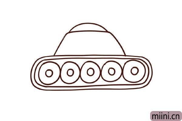 5.上面画出面包形状的驾驶室。