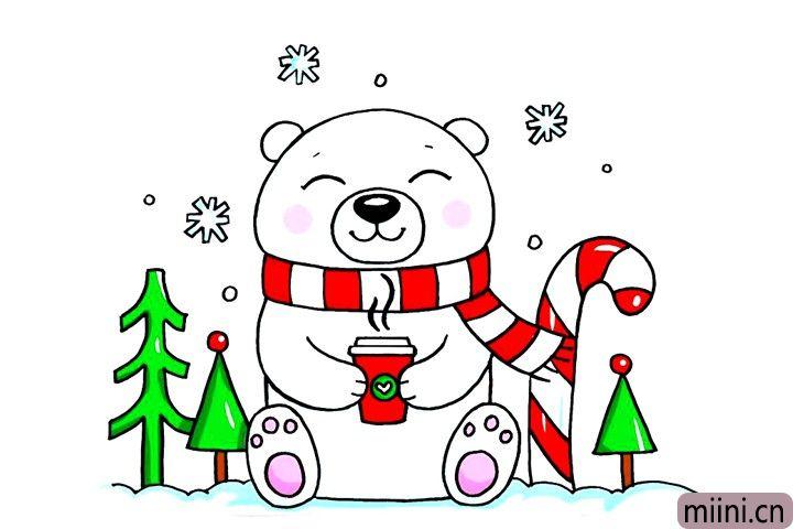 不怕寒冷的北极熊简笔画步骤教程