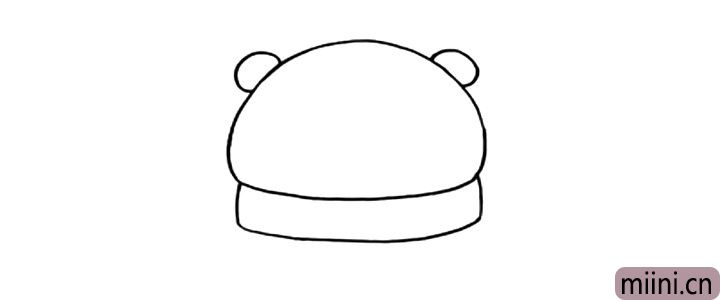 3.给北极熊画两只耳朵。