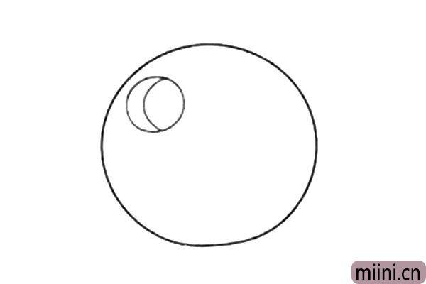 2.画出小猪的眼睛。