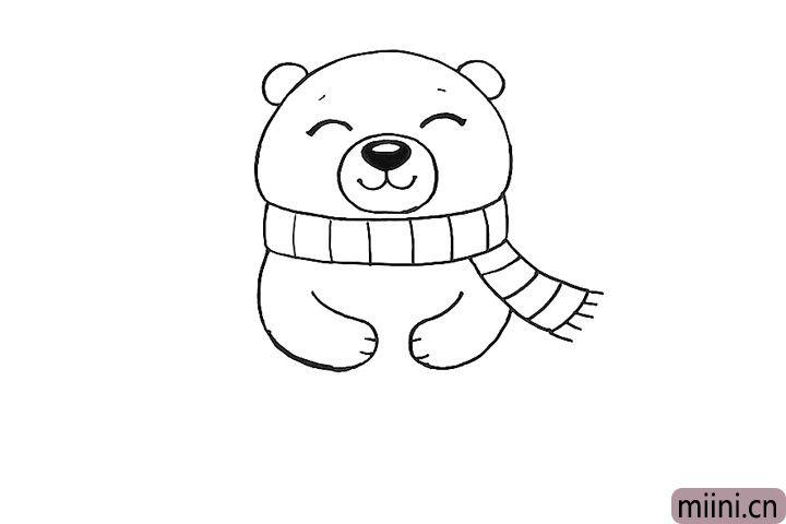 7.画北极熊的双手。