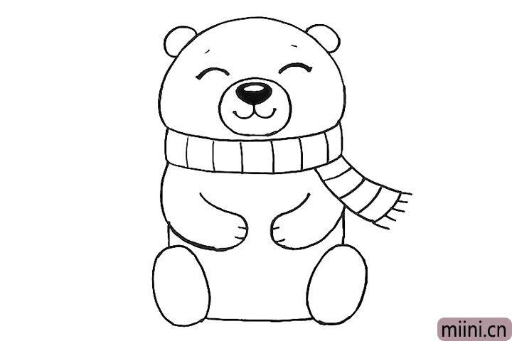 8.画熊坐着的双脚。