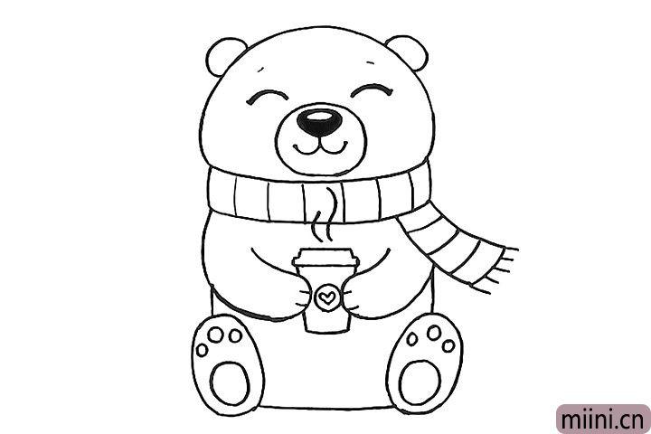 10.给小熊一杯热腾腾的饮料吧。