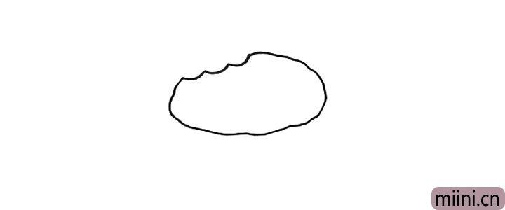 1.先画出第一块饼干。