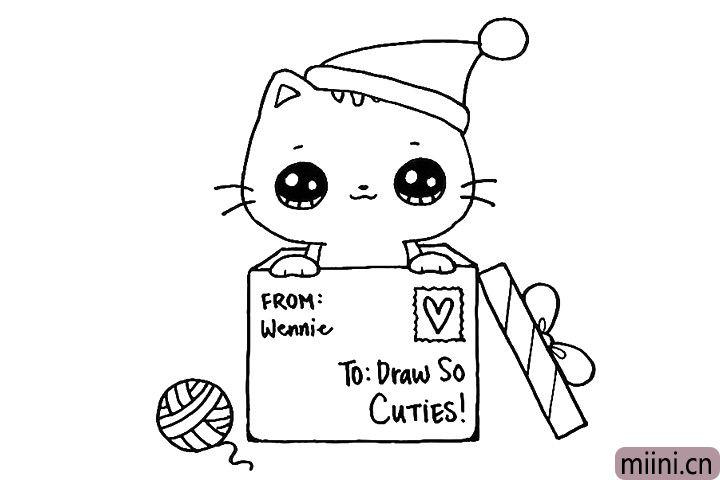 10.给盒子画上明信片。