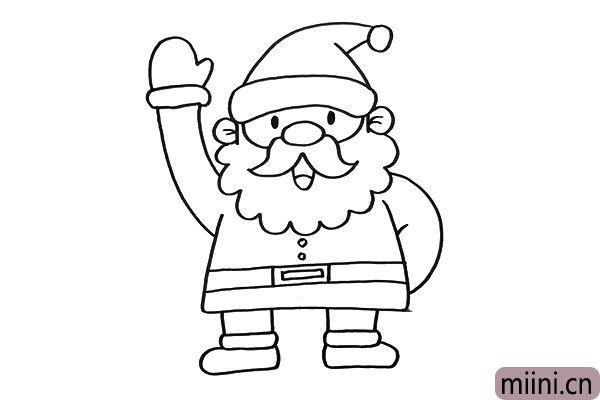 3.我把圣诞老人的腿画的很短,是不是很萌很可爱呢。