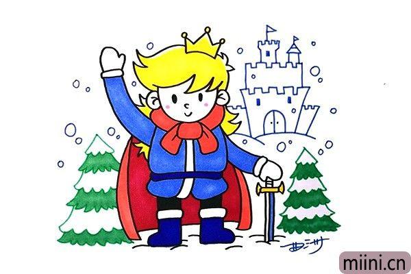 冰雪王国里面的王子简笔画步骤教程