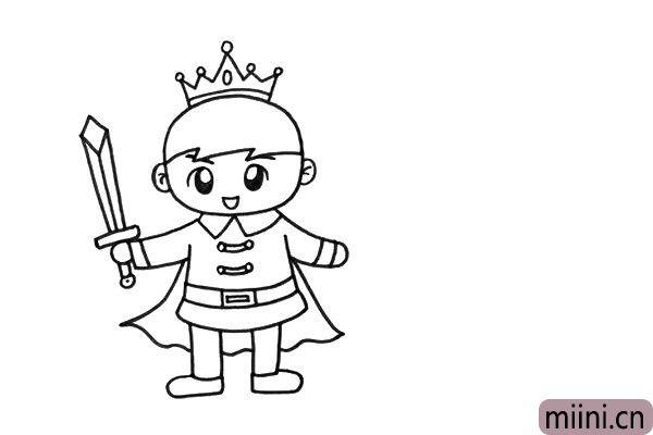 3.宝剑、披风、皇冠都体现出了王子的特征,是不是非常帅气呢。