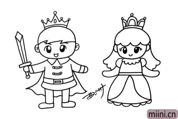5.公主美丽的皇冠和华丽的服饰真让人羡慕,你也可以把她装饰的更加华丽一些。