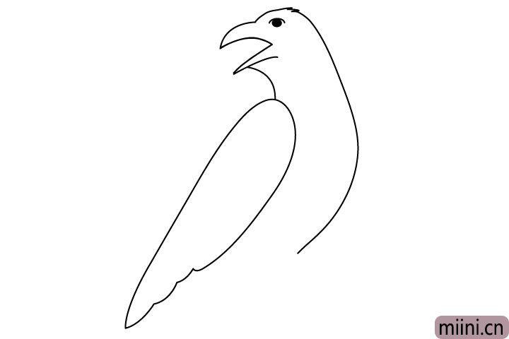4.画上它的一只翅膀。