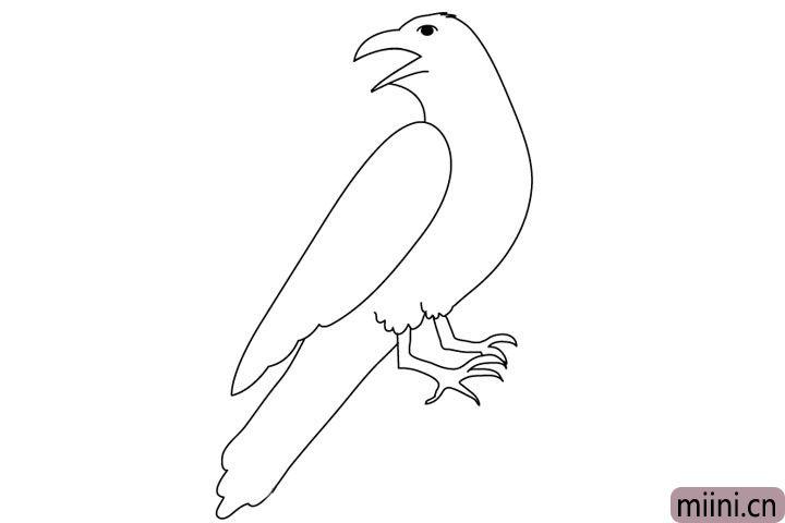 5.接下来画上他的尾巴、腿和爪子。