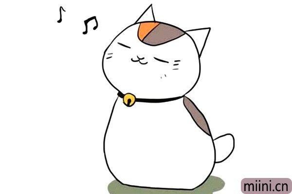 哼歌的小猫咪简笔画步骤教程