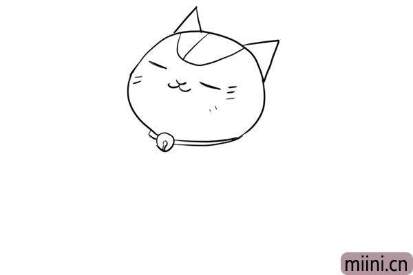 3.给小猫脖子上画上铃铛。
