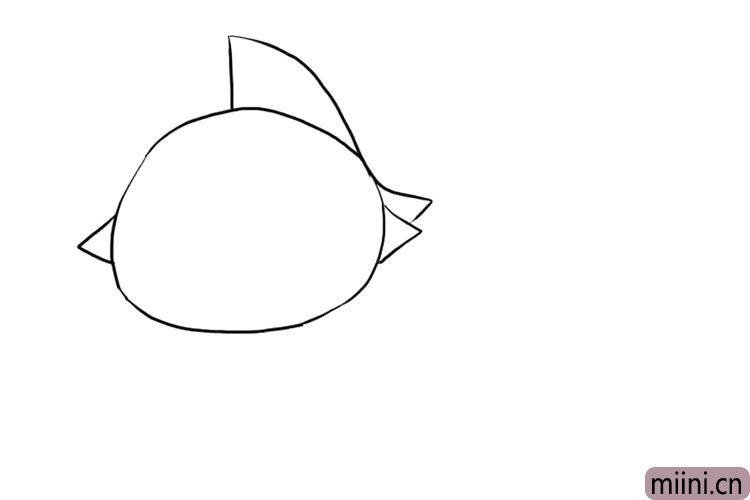 1.先画出泰罗奥特曼的头部轮廓。