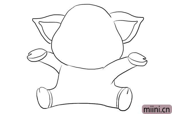 4.画小猪的双脚。