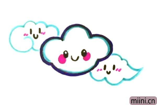 调皮多变的云朵简笔画步骤教程