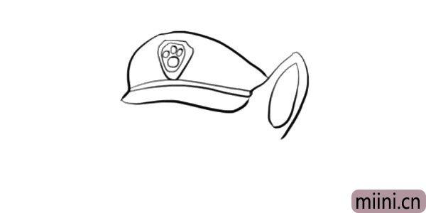 3.画出阿奇的 一只耳朵。