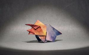 教大家动手折纸一个可爱的三角龙