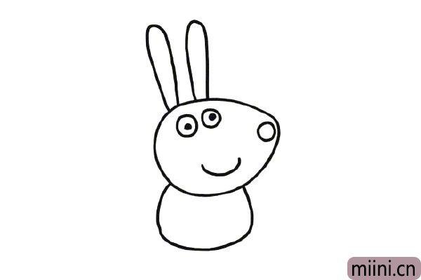 第五步,在给小兔瑞贝卡画上身体。