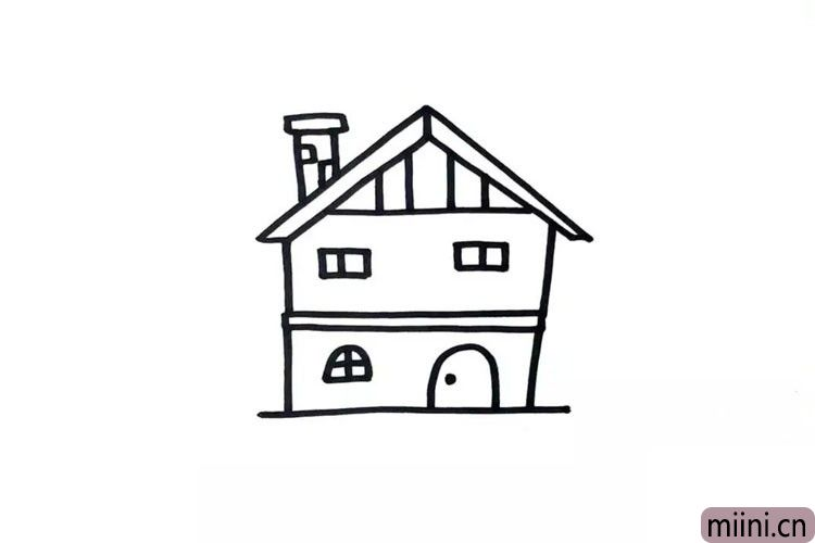第三步:给房子装修一下,加上一些细节