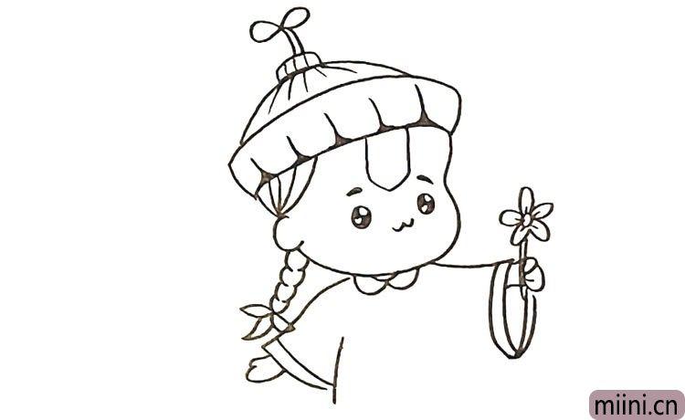 第十步:还有他的手臂.他的手中还拿了一朵鲜花。