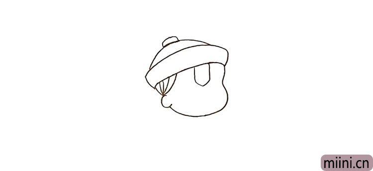 第四步:还有他额头上的符咒贴也勾勒出来。