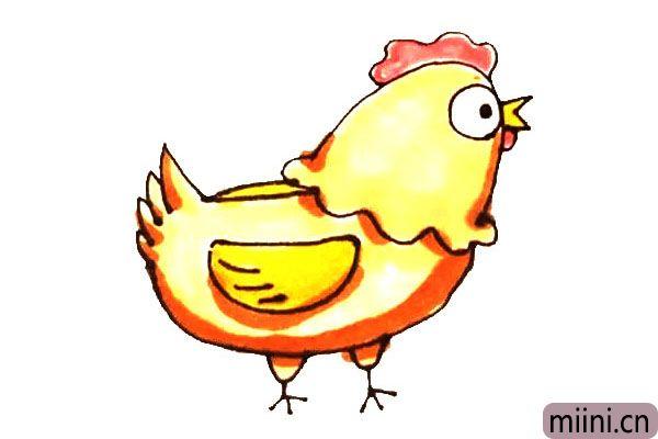 会下蛋的母鸡简笔画步骤教程