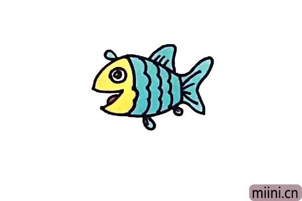 漂亮的小鱼简笔画步骤教程