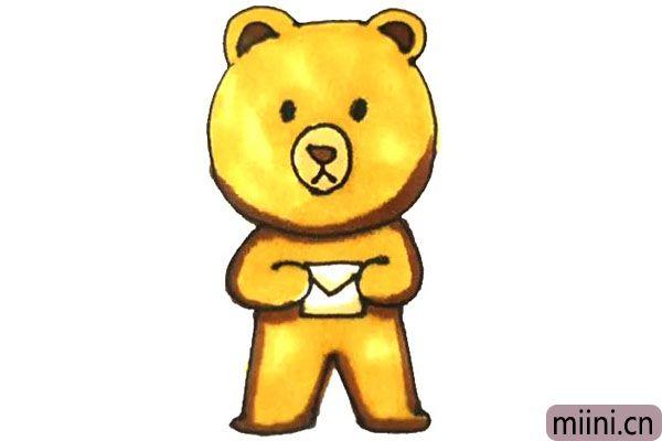 小熊布娃娃简笔画步骤教程