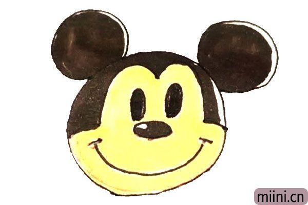 可爱的米老鼠米奇简笔画步骤教程